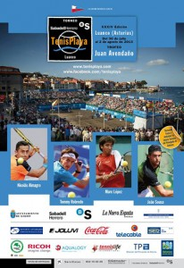 Cartel Torneo Tenis Playa Luanco 2013