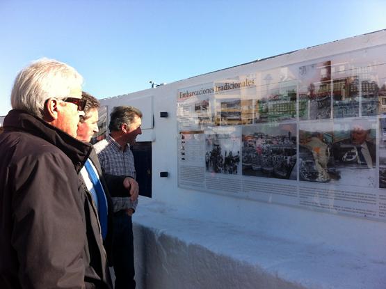 Inauguración exposición Muelle de Luanco